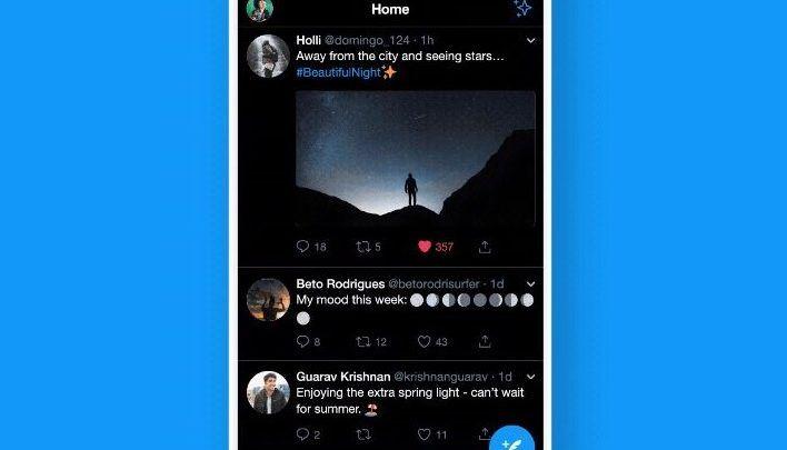 Twitter's New True Dark Mode   Lights Out Feature