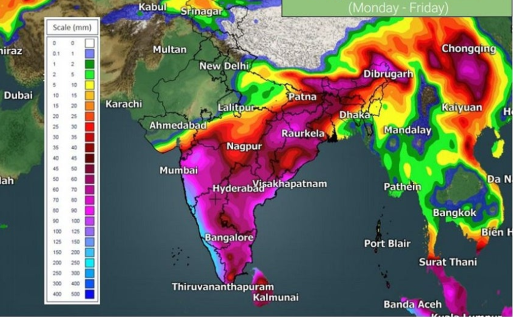 Extremely Heavy Rain In Kerala: Red Alert In 7 Districts On Monday