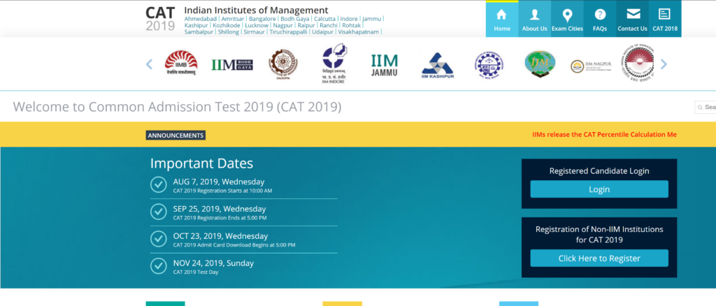 CAT 2019 Admit Card To Be Released Tomorrow | Download @ iimcat.ac.in