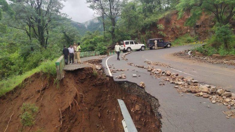 Karnataka Lashed By Heavy Round Of Rainfall, Narayanpur Chaya Bhagavathi Temple Partially Submerged in Water