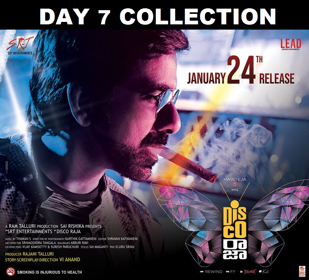 Disco Raja Day 7 Box Office Collection – 7th Day Box Office Collections Of Ravi Teja's Disco Raja