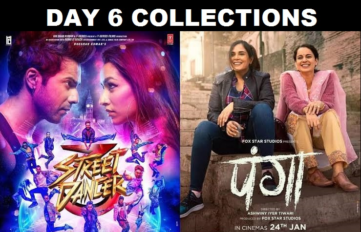 Panga & Street Dancer Day 6 Collection – 6th Day Box Office Collections Of Kangana Ranaut's Panga And Varun Dhawan's Street Dancer