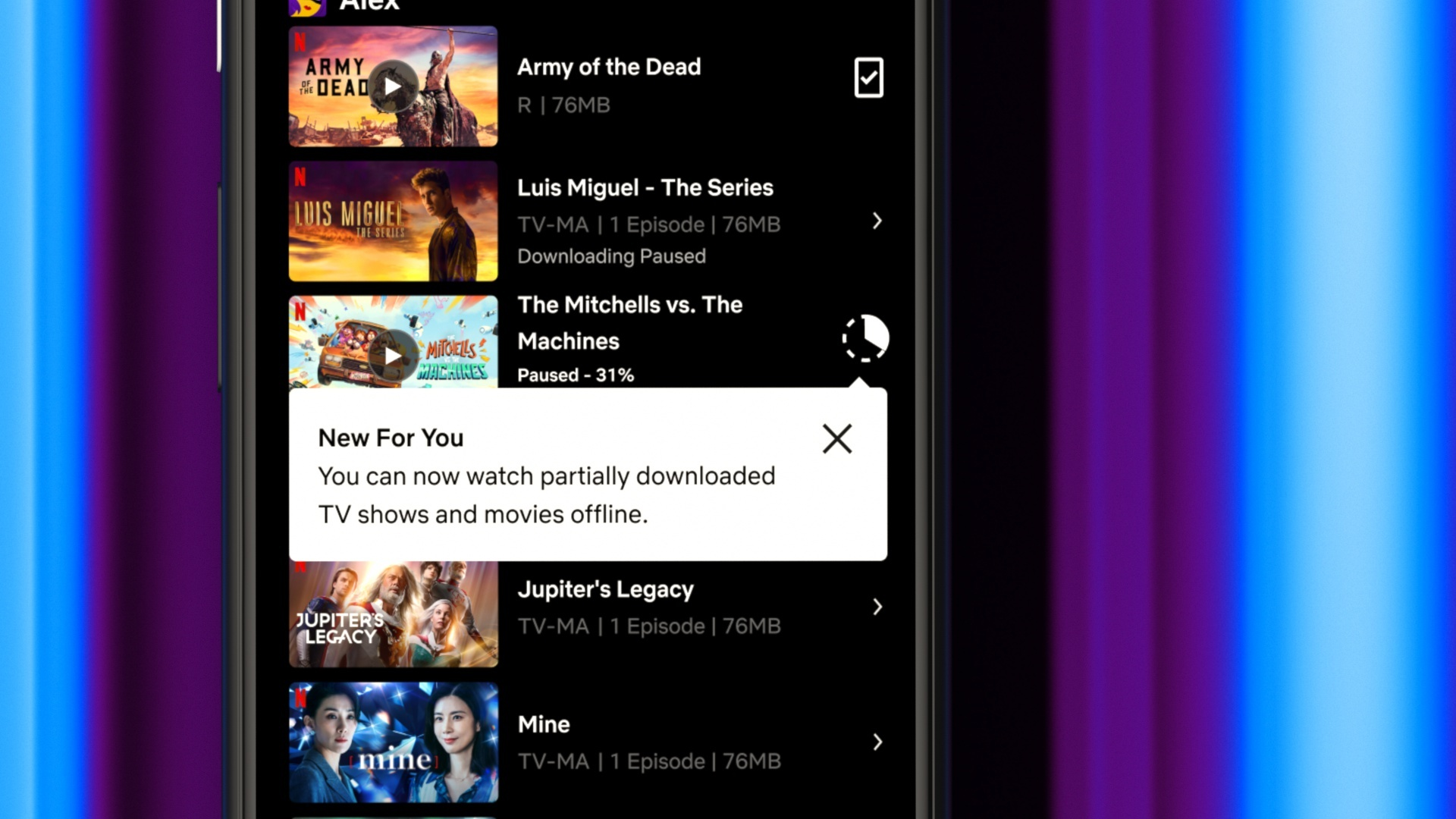 Netflix's New Feature! You Can Watch Movies/Shows While Downloading Them!