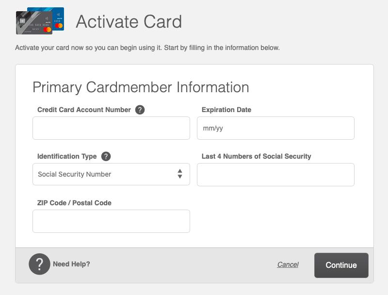 BJ's Wholesale Credit Card activation
