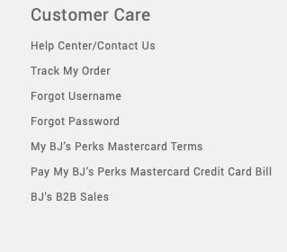BJ's Wholesale Credit Card registration