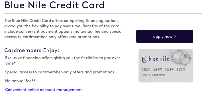 Blue Nile Credit Card Application