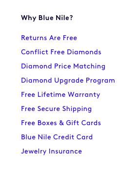 Blue Nile Credit Card button