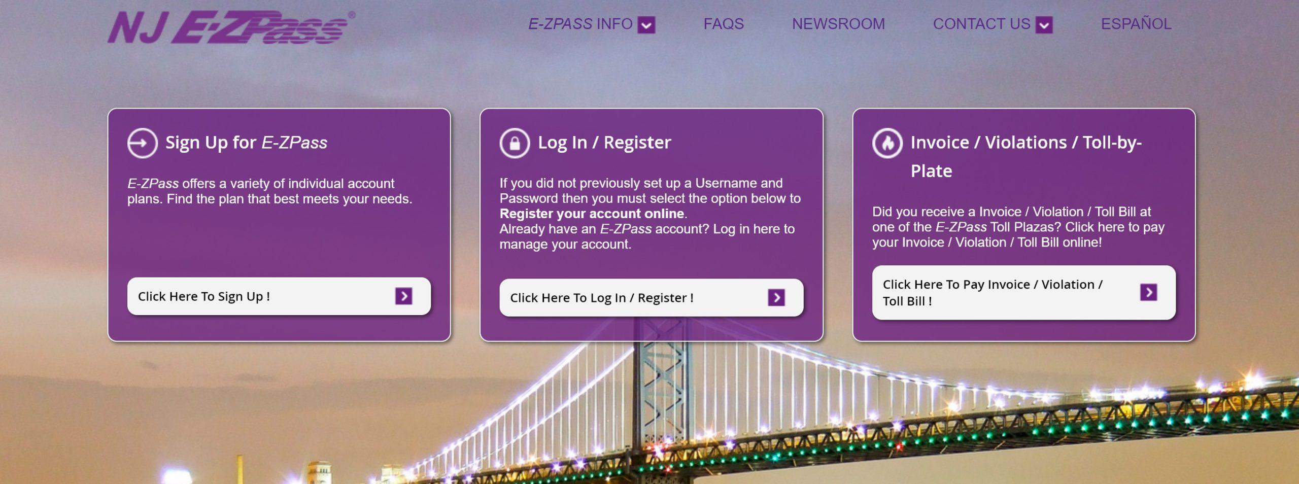 New Jersey EZPass NJ Login & Pay Bill Online @ www.ezpassnj.com