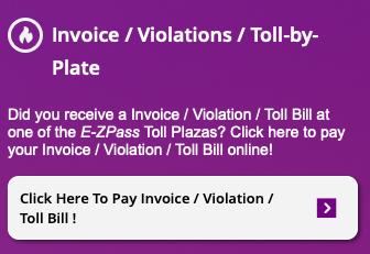 New Jersey E-ZPass Toll Bill Payment