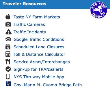 New York State Thruway Traveler Resources