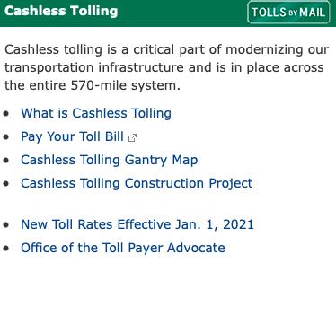 New York State Thruway cashless tolling