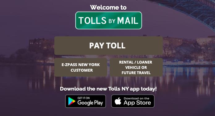 New York State Thruway tolls by mail