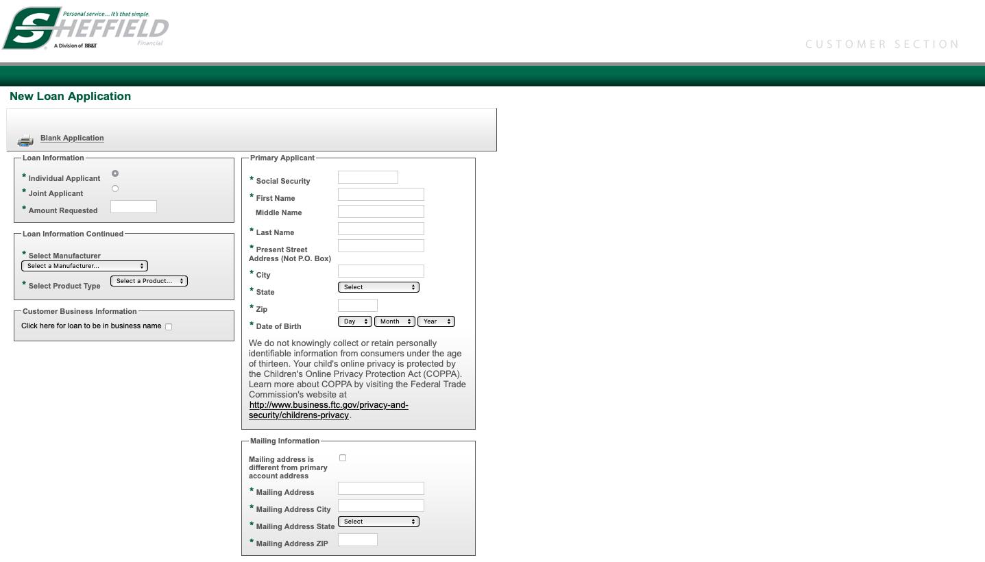 Sheffield Financial Loan Payment / Pay My Bill @ www.sheffieldfinancial.com