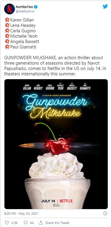 gunpowder milkshake coming to netflix