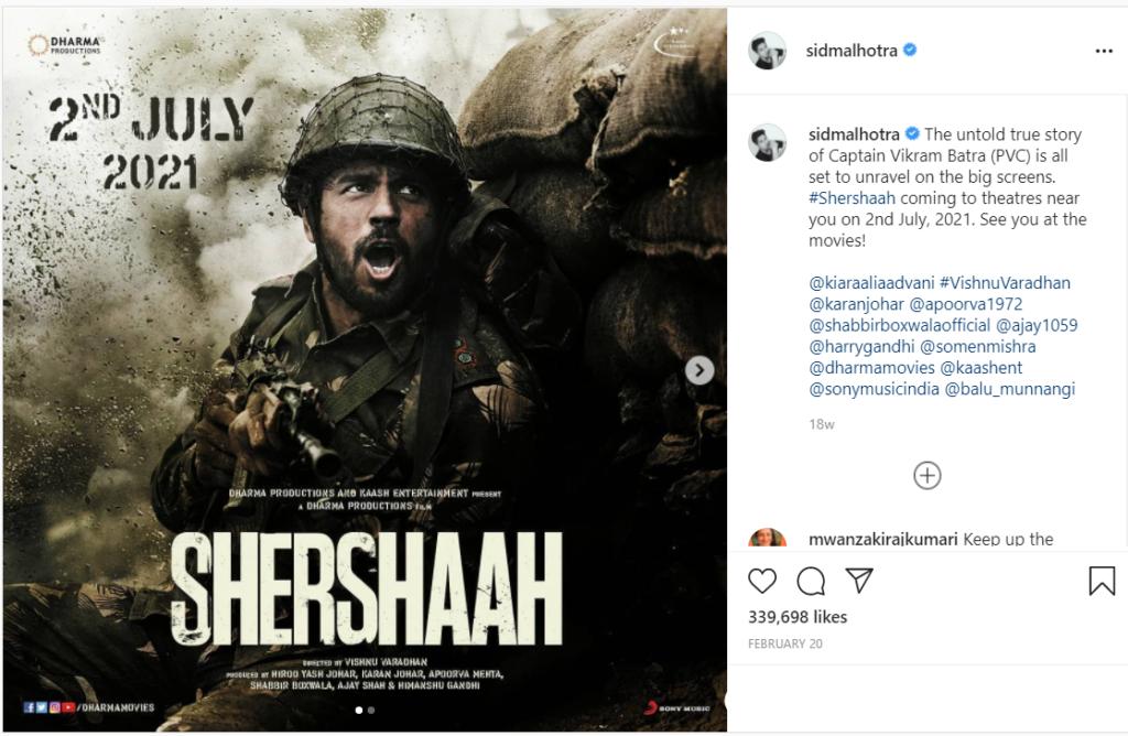 shershaah ott release