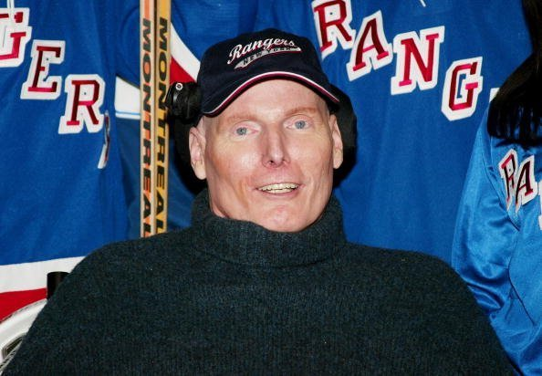 Christopher Reeve on January 25, 2004 in New York City   Photo: Getty Images