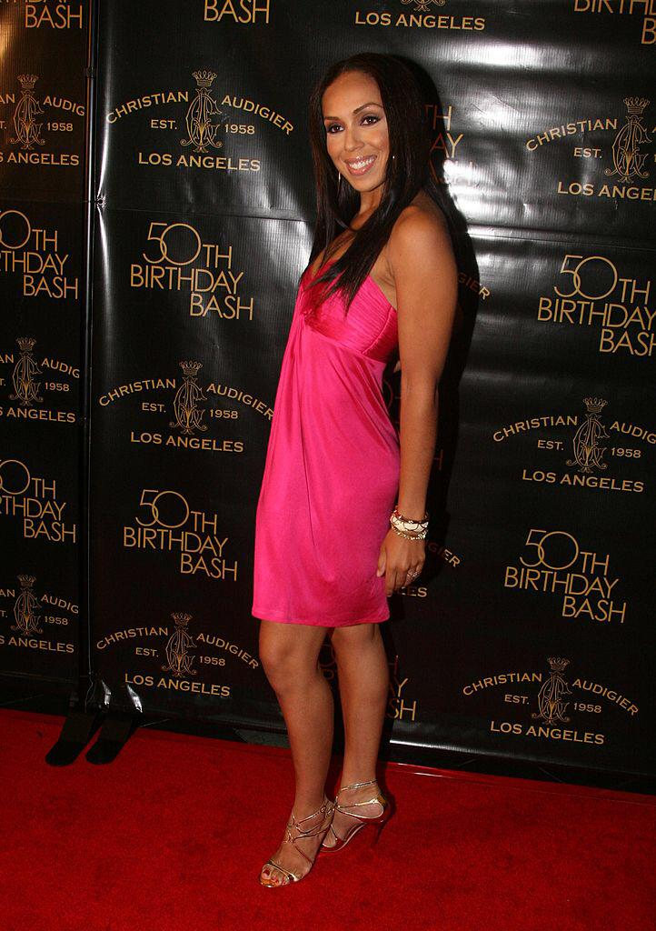 Stephanie Mosley arrives to Designer Christian Audigier`s 50th Birthday Bash at the Peterson Automotive Museum on May 23, 2008   Photo: Getty Images