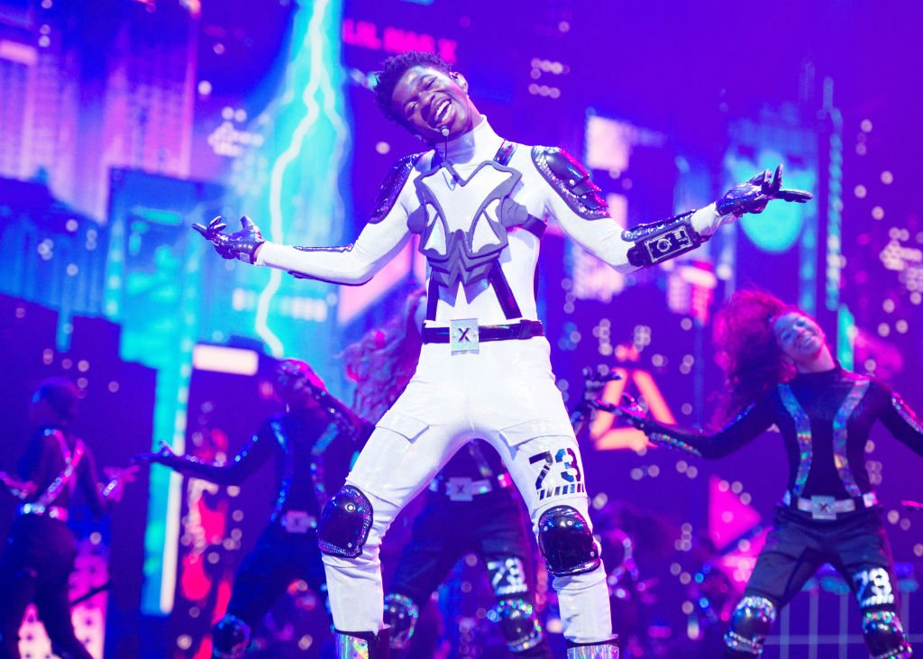 Lil Nas X performs onstage during the 2019 MTV Video Music Awards, August 2019   Source: Getty Images
