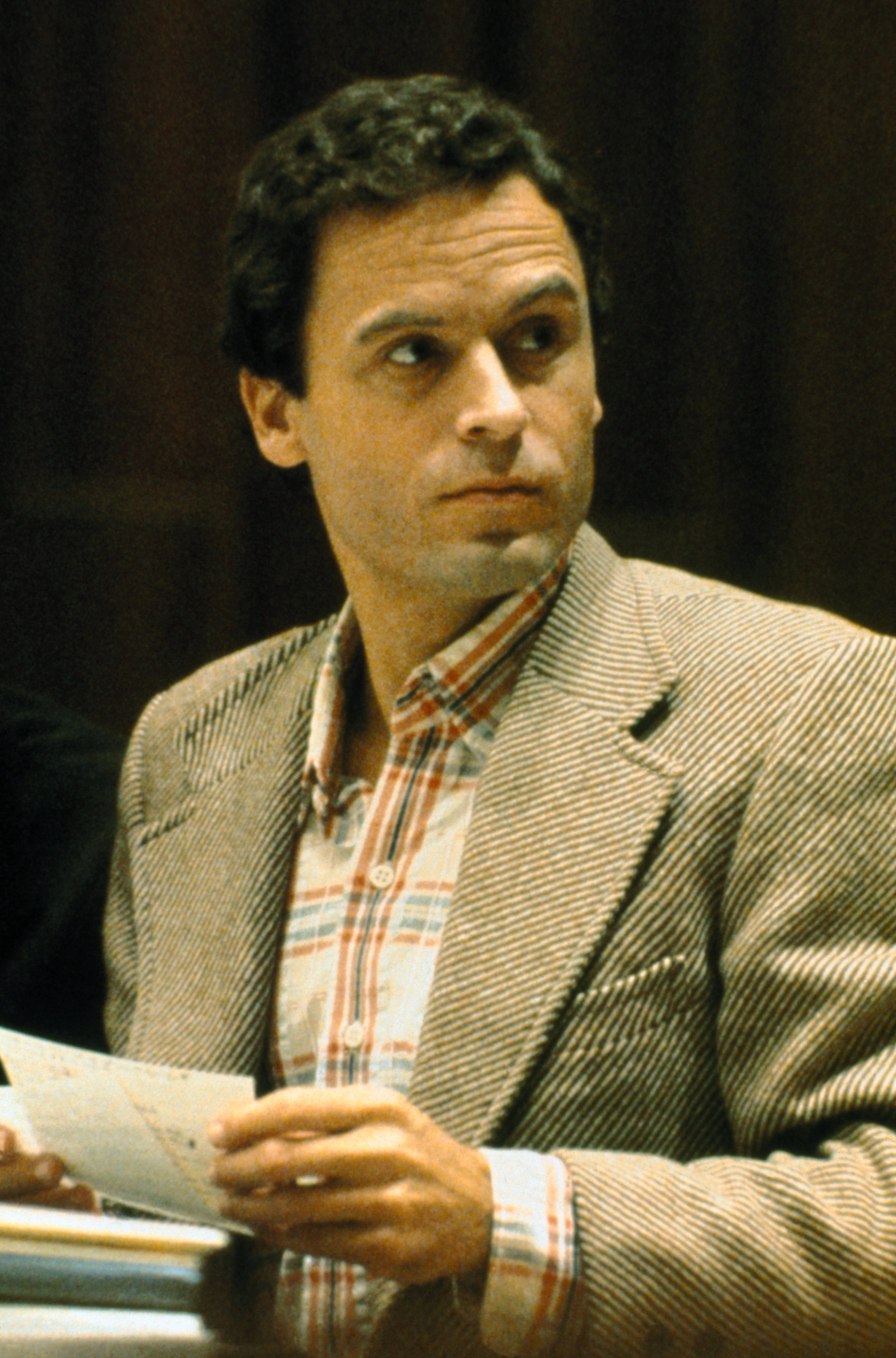 Close up of Theodore Bundy, convicted Florida murderer, charged with other killings.  Source: Getty Images