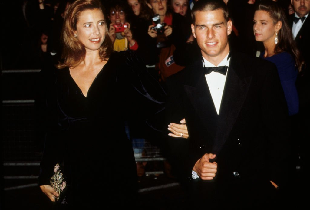 Tom Cruise and Mimi Rogers attend a London premiere that took place circa 1989   Photo: Getty Images