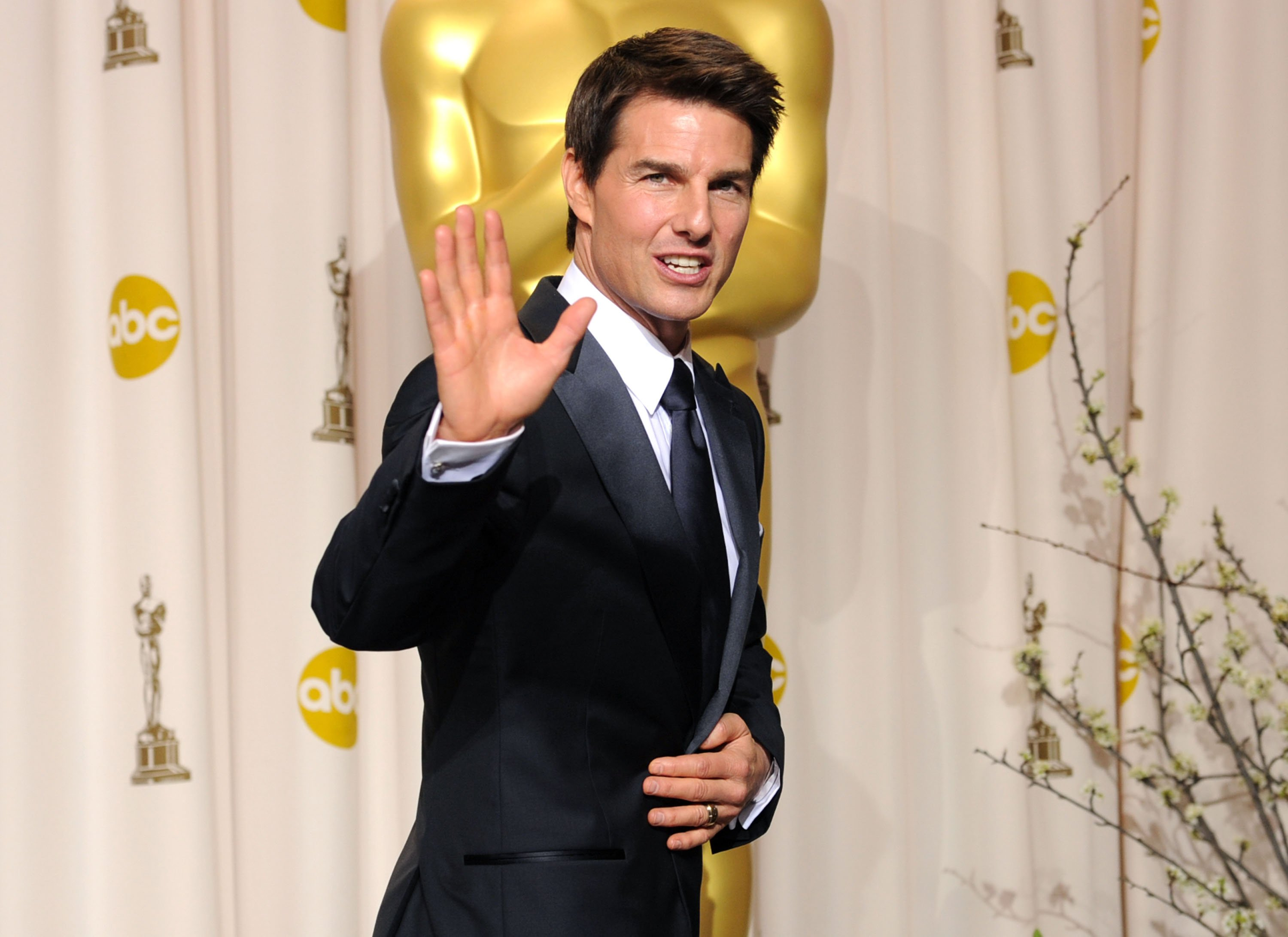 Actor Tom Cruise poses in the press room at the 84th Annual Academy Awards held at the Hollywood & Highland Center on February 26, 2012   Photo: Getty Images