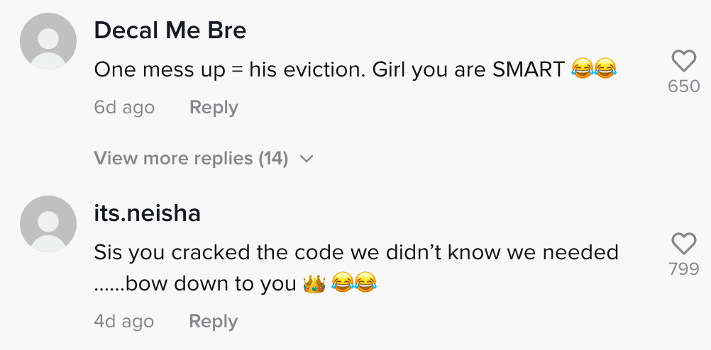 Netizens react to a woman who lets her boyfriend pay their rent without him knowing she's the landlord   Photo: TikTok/jaynedoee0