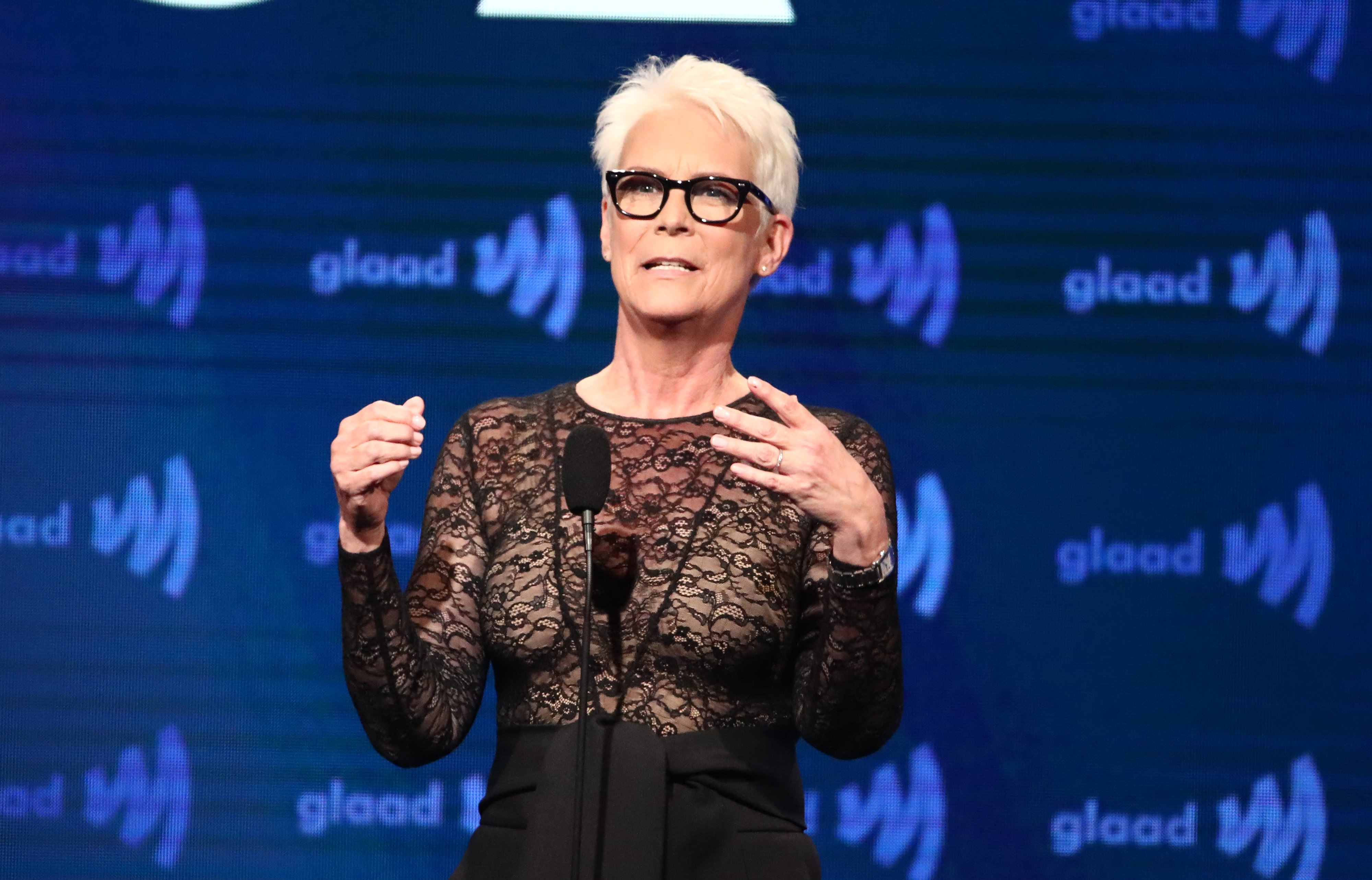 Jamie Lee Curtis speaks onstage during the 30th Annual GLAAD Media Awards Los Angeles at The Beverly Hilton Hotel on March 28, 2019. | Photo: Getty Images