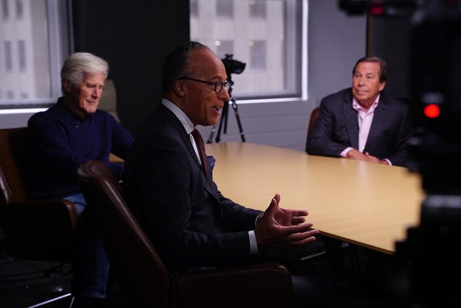 """Lester Holt, seen here with """"Dateline"""" co-stars Keith Morrison and Dennis Murphy, says the stories are """"relatable"""" because """"you realize that people that do bad things could be across the street from you, their kids could go to school with yours."""""""