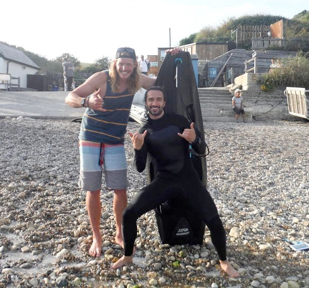 Oly and his Jurassic Coast Clean Up team noticed Joe on the rocks and returned him to safety
