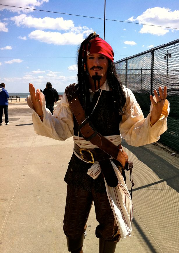 Michael as pirate Jack Sparrow