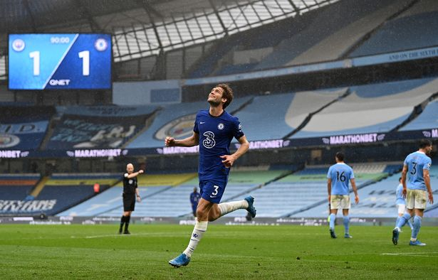 Marcos Alonso scored the winner for Chelsea at the Etihad last season