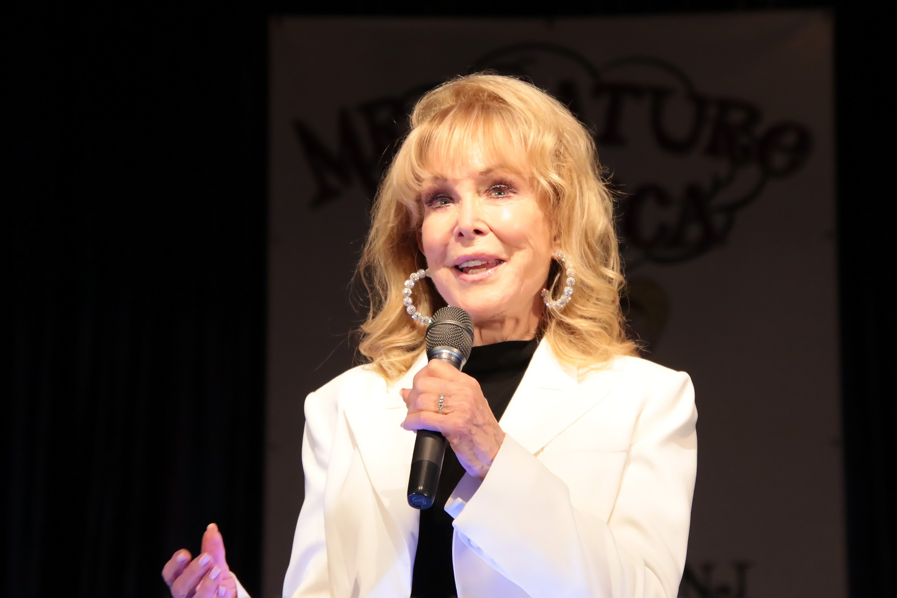 Barbara Eden, Special Guest & Emcee hosts the 2019 Mr. Mature America Pageant at the at Ocean City Music Pier on April 13, 2019  