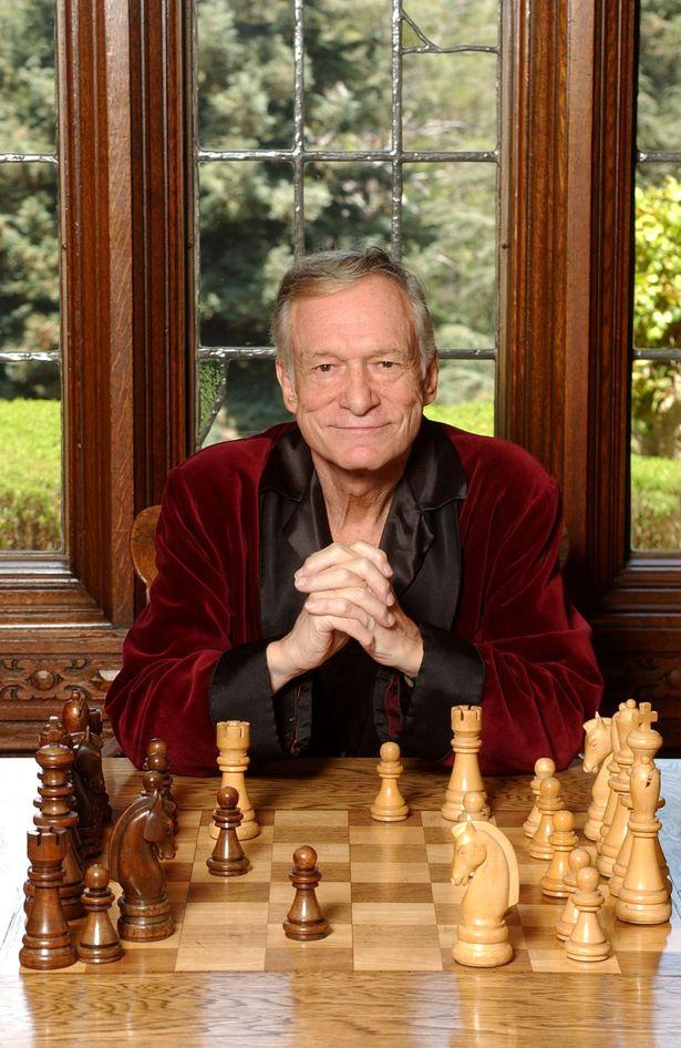 Hugh Hefner in the Playboy mansion