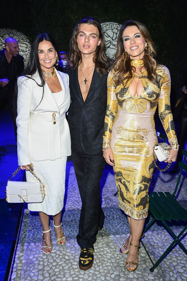 Liz, Damian and their pal Demi Moore