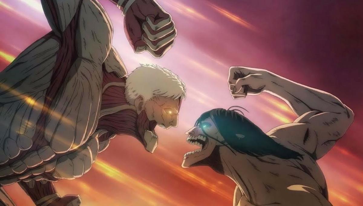 Titan Reiner versus Titan Eren