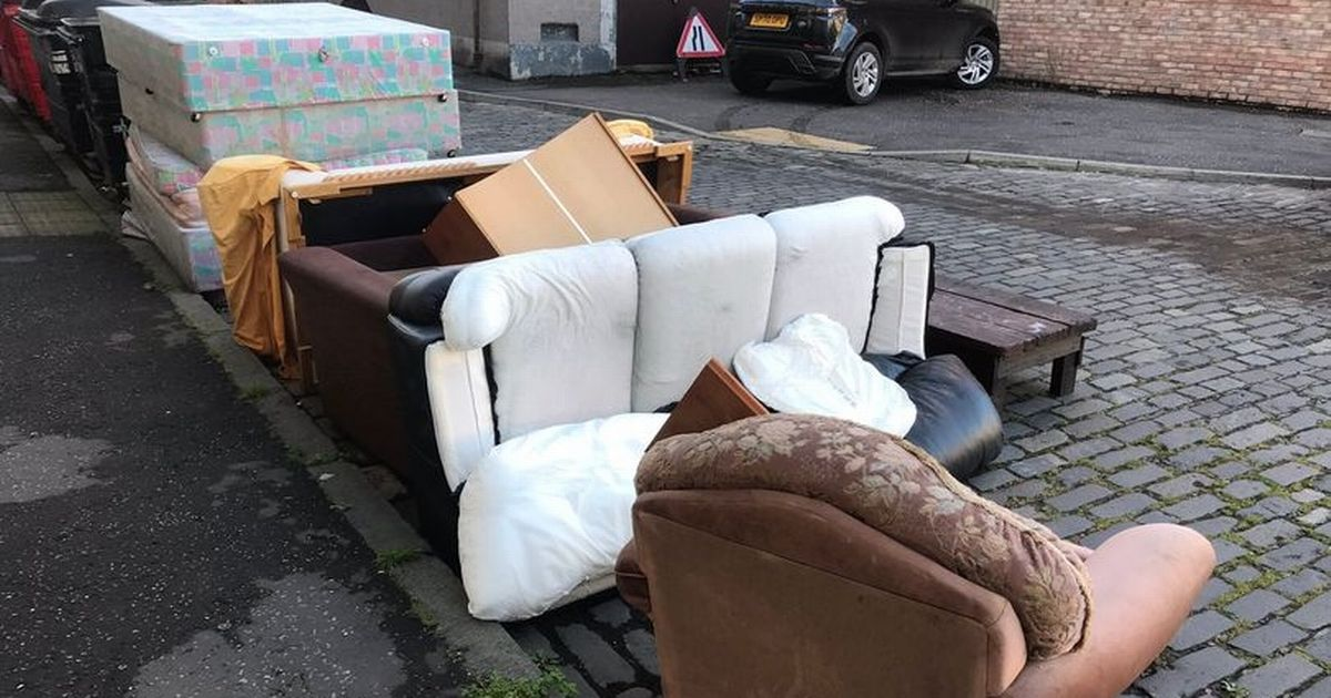 Fury as the entire flat, containing two sofas and a coffee table, flew onto the street.