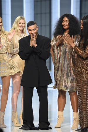 Rousteing has been known to use his displays as opportunities to increase awareness. Last year during couture, he notably threw his weight behind the Black Lives Matter movement.