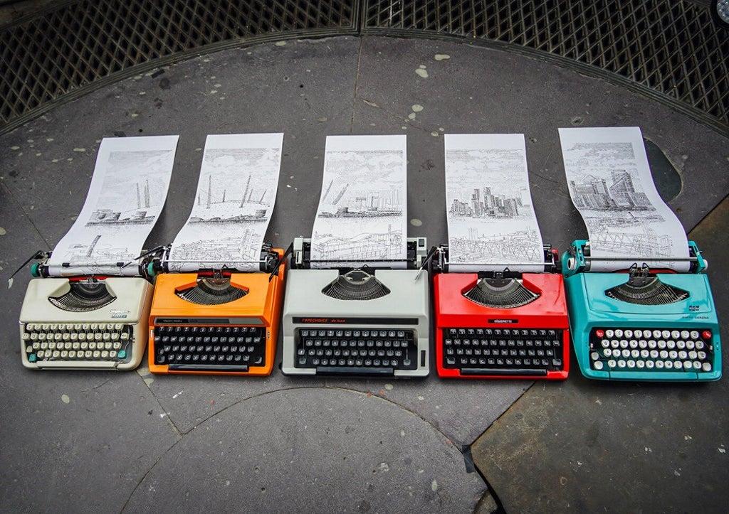 Architecture graduate's typewriter art finds fans around the world
