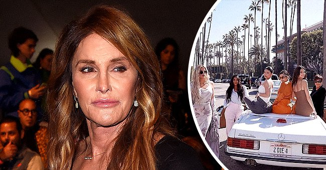 Caitlyn Jenner on June 10, 2016 in Los Angeles, California and the KarJenner family in a March 2020 Instagram post shared by Kris Jenner | Photo: Getty Images - Instagram.com/krisjenner