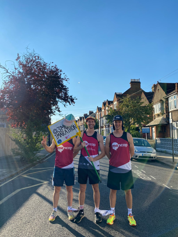Charity running trio aim to set four-legged world record at London Marathon