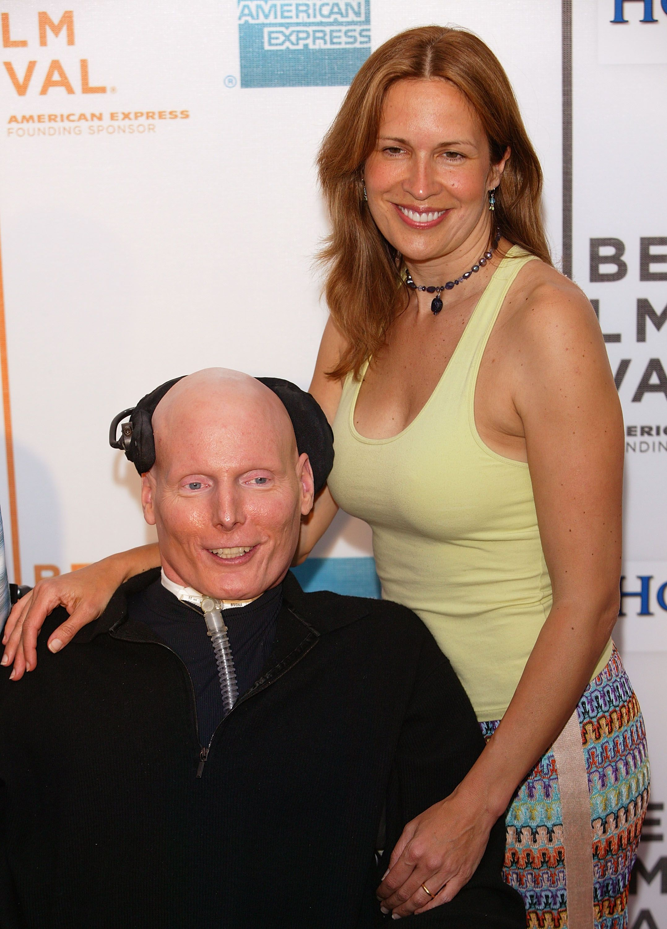 """Christopher Reeve and Dana Reeve at the screening of """"House Of D"""" on May 7, 2004 in New York City   Photo: Getty Images"""
