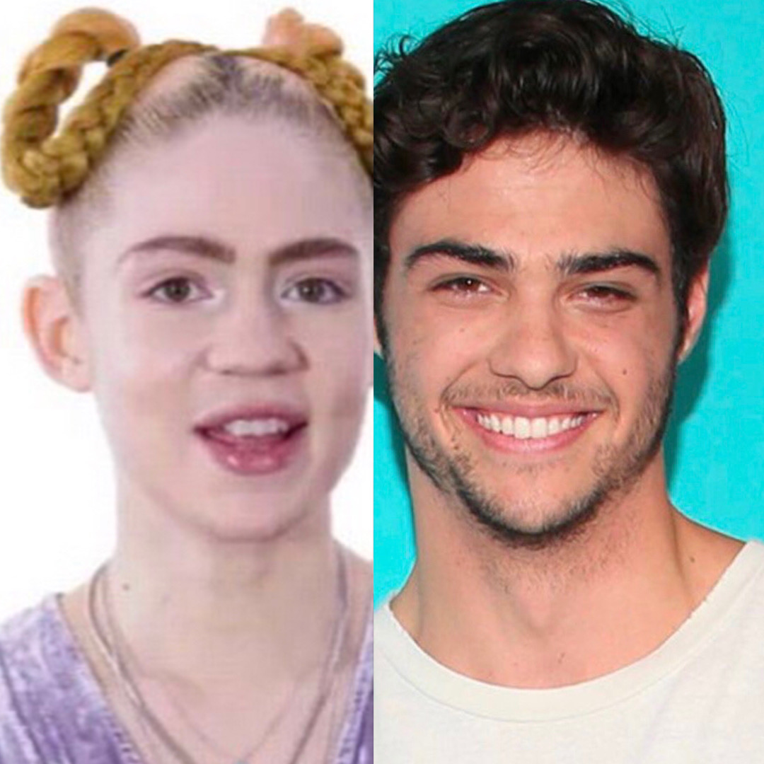 Did Grimes kiss Noah Centineo in Olive Garden?