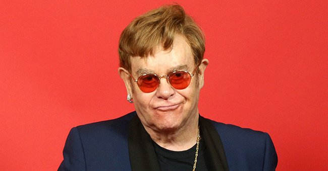 Elton John attends the 2021 iHeartRadio Music Awards, May 2021   Source: Getty Images