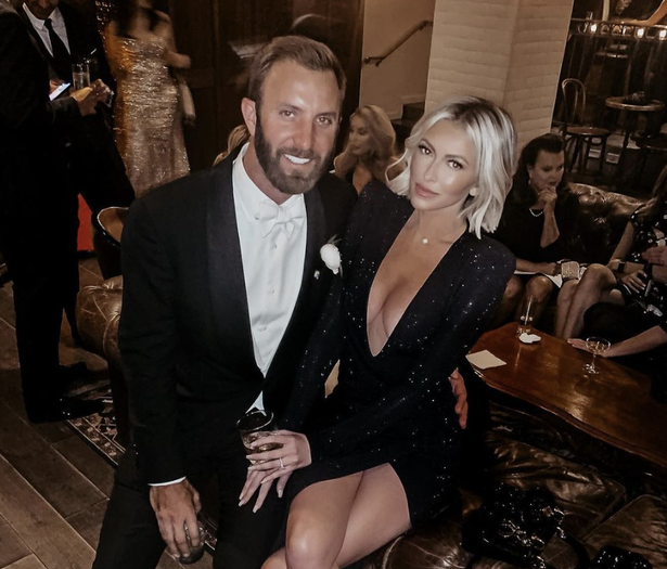 Dustin Johnson's fiance Paulina Gretzky injured her leg ahead of the Ryder Cup
