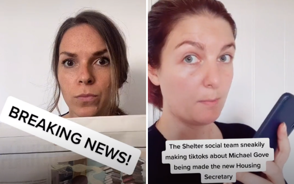How Shelter is using TikTok to demand change from new housing secretary Michael Gove