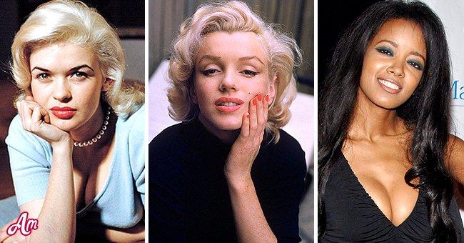 Playmates Jayne Mansfield, Marilyn Monroe, and Stephanie Adams. │ Source: Getty Images
