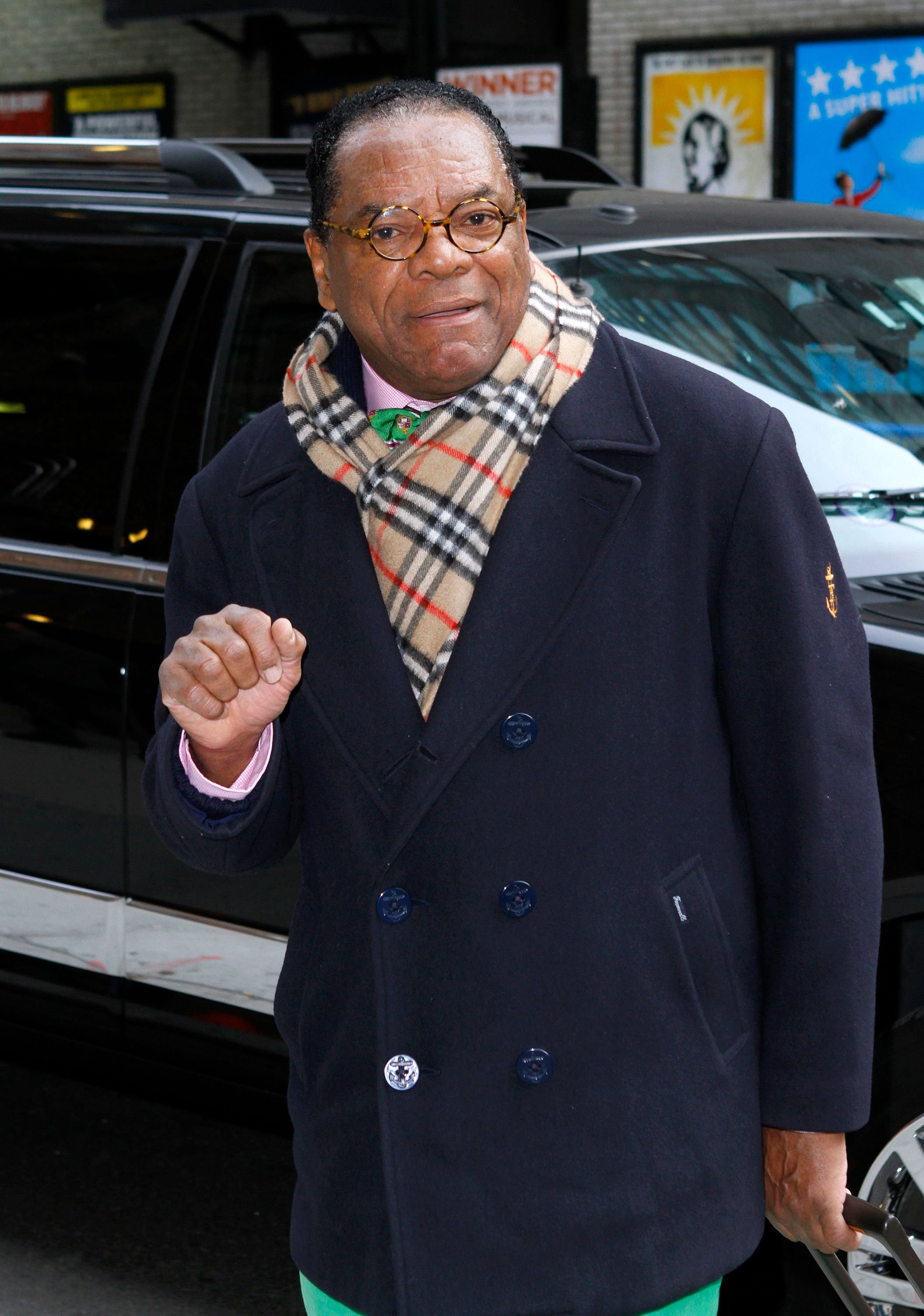 """John Witherspoon at """"The Late Show with David Letterman"""" at Ed Sullivan Theater on February 22, 2012. 