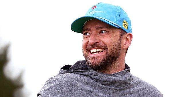 Justin Timberlake reacts during Day one of the Alfred Dunhill Links Championship, September 2019 | Source: Getty Images