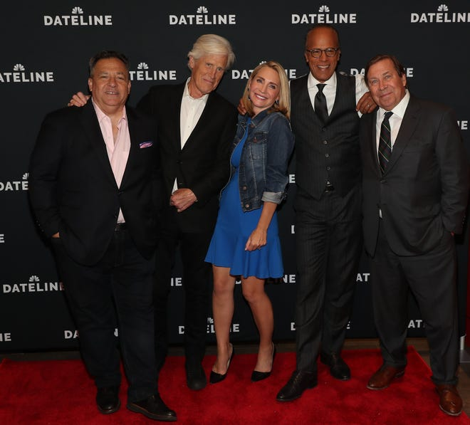 """L-R: Josh Mankiewicz, Keith Morrison, Andrea Canning, Lester Holt and Dennis Murphy attend the """"Dateline NBC"""" screening premiere at Quad Cinema in New York City on Sept. 25, 2019."""