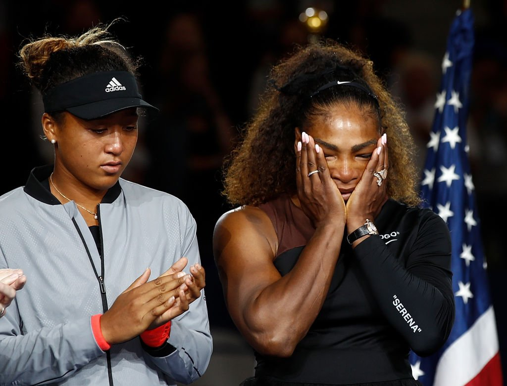 Naomi Osaka alongside Serena Williams at the 2018 US Open at the USTA Billie Jean King National Tennis Center on September 8, 2018.   Photo: Getty Images